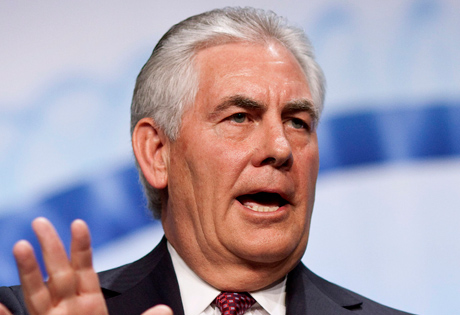 China; islas artificiales, Rex Tillerson
